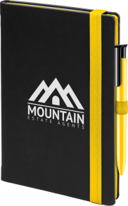 Cody Yellow notebook with contrast colour