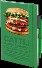 Green Denim Notbook with full colour branding