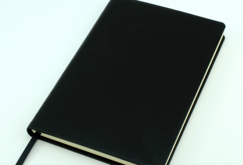Recycled leather cover notebook