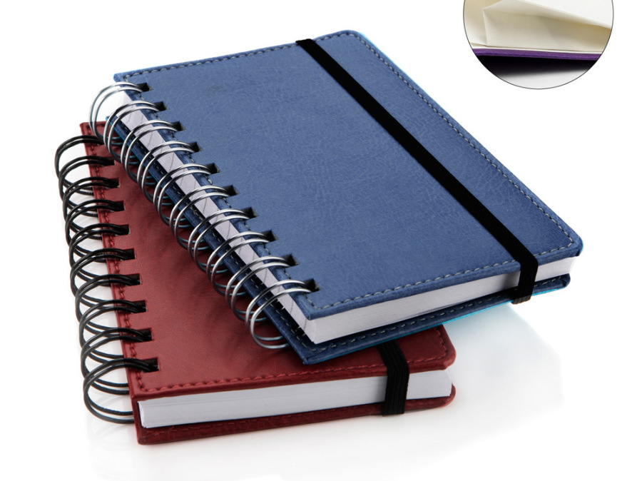 Wiro Bound recycled leather notebook