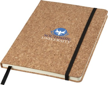 Cork notebook printed two colours